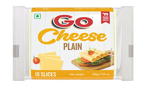 Go Plain Cheese Slice